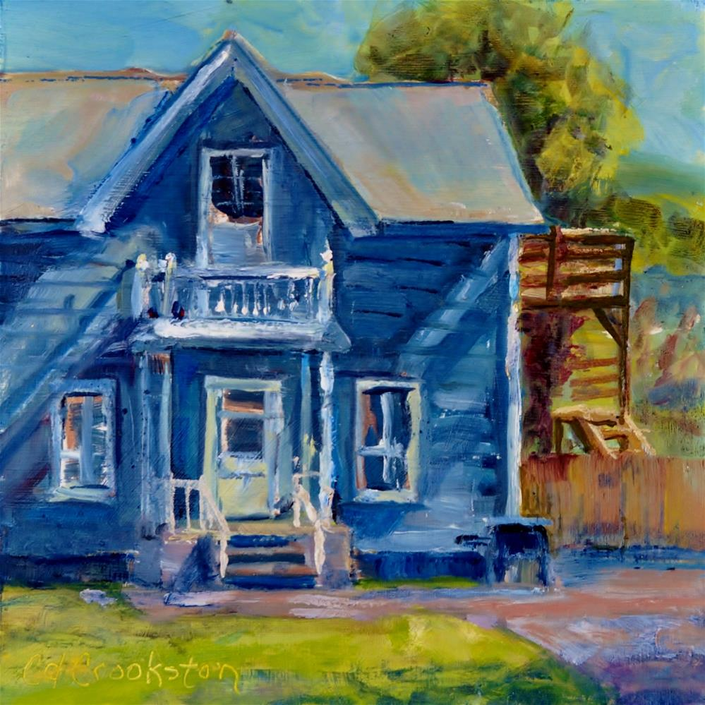 """Old Blue House"" original fine art by Catherine Crookston"