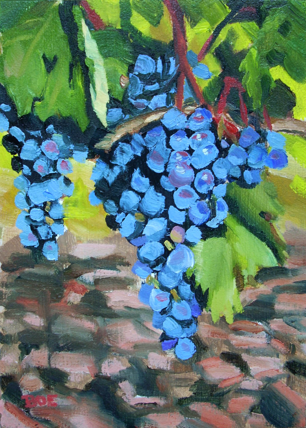 """Grapes in the Sun"" original fine art by Karen Boe"
