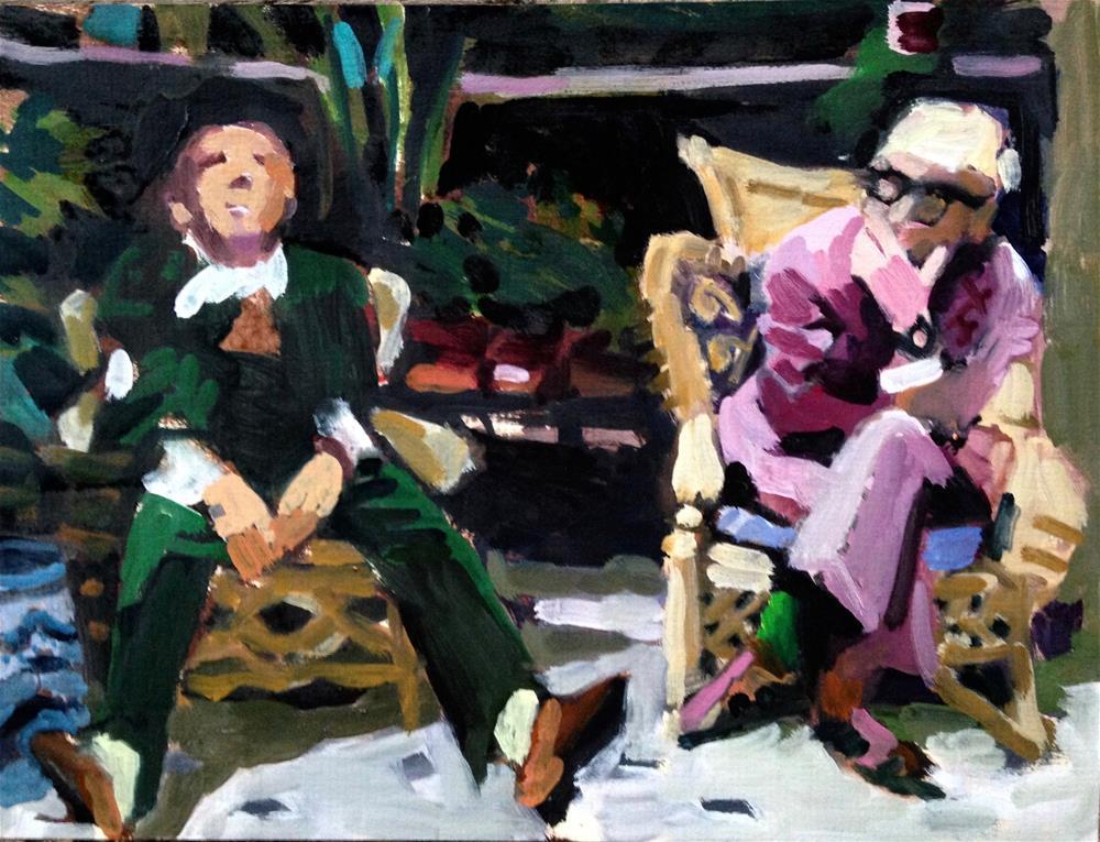 """Manuel and David"" original fine art by Pamela Hoffmeister"