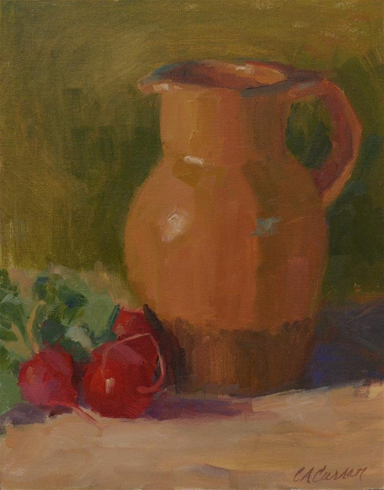 """Tuscan Vase"" original fine art by Cheryl A Curran"