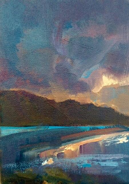 """Yorkshire Sunset"" original fine art by Anne Wood"