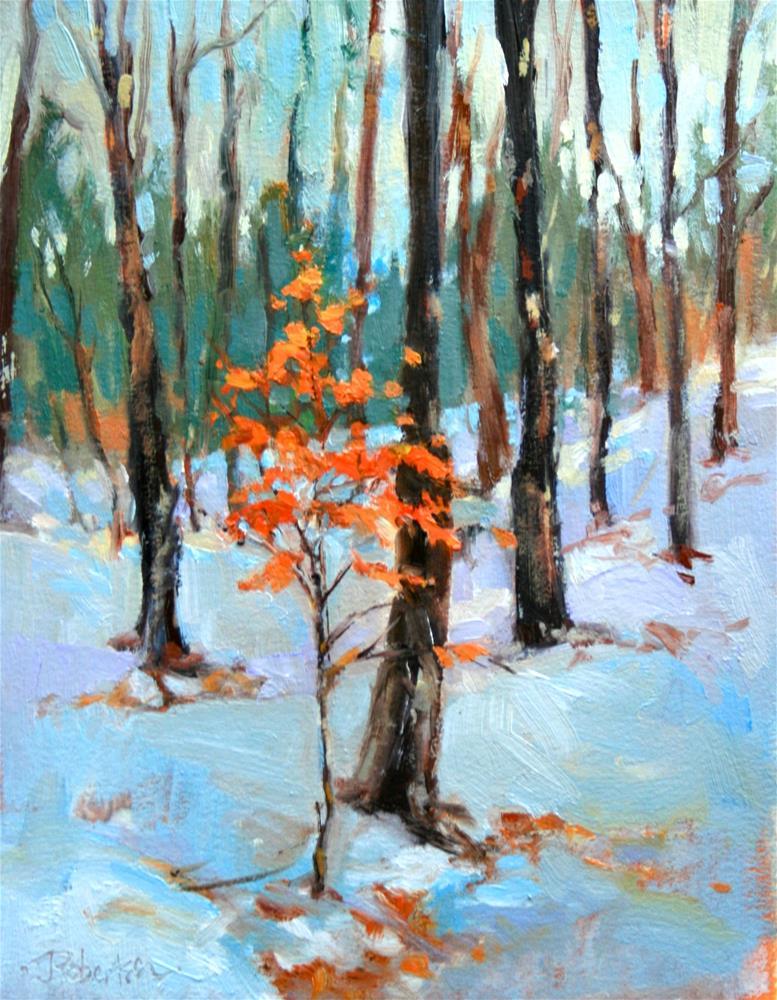 """Late Winter Forest II"" original fine art by Jane Robertson"