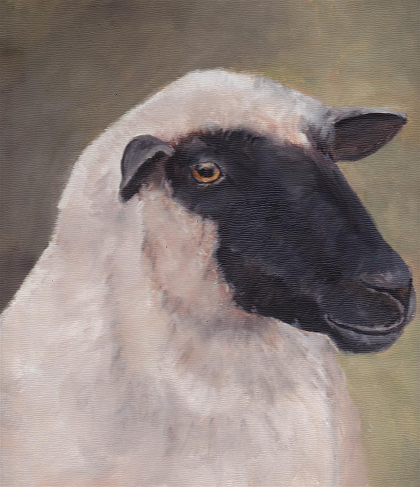 """Sheep Portrait"" original fine art by Charlotte Yealey"