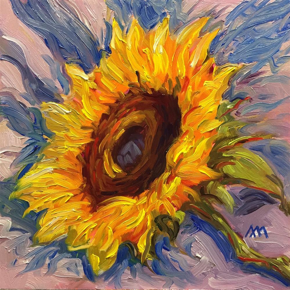 """Sunflower"" original fine art by Austin Maloney"