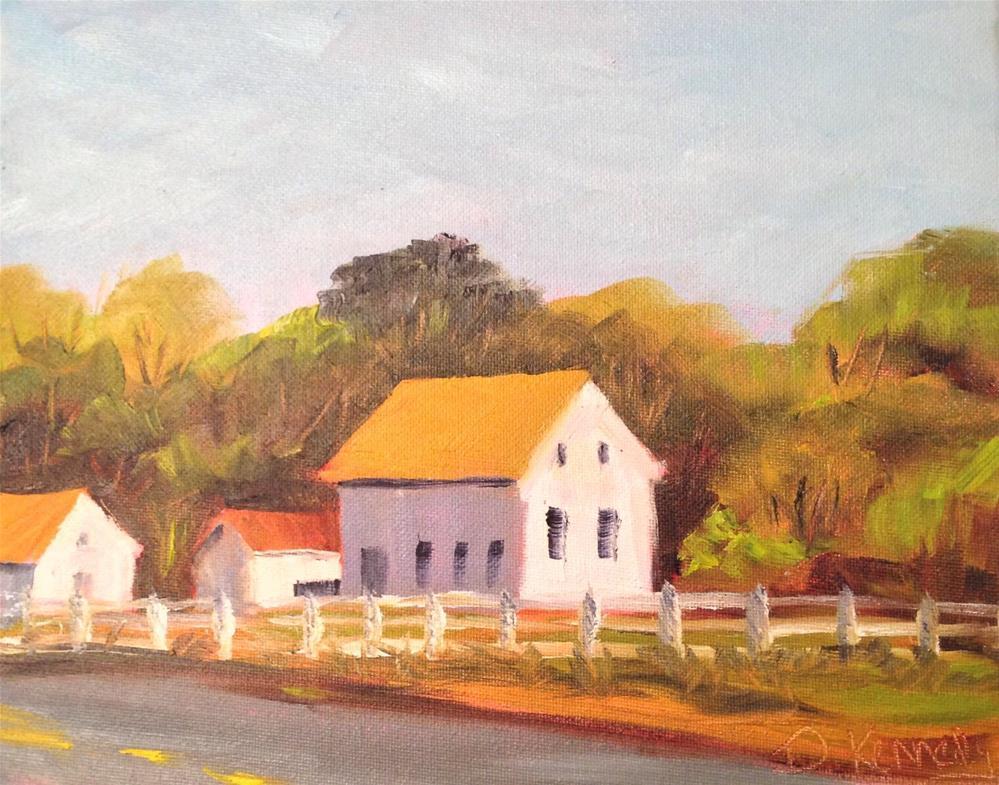 """Autumn Drive"" original fine art by Debra Kennedy"