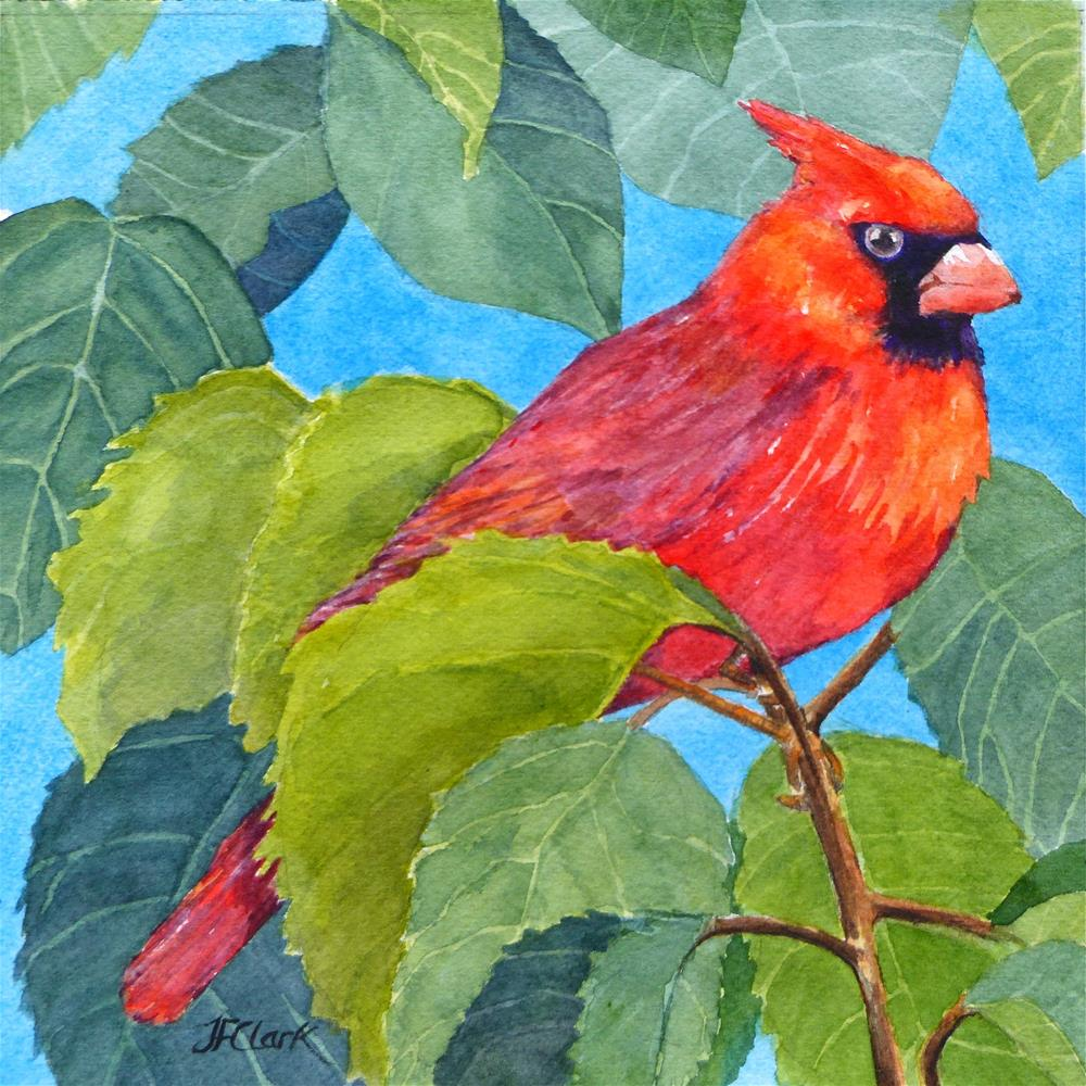 """Feeling Feisty"" original fine art by Judith Freeman Clark"
