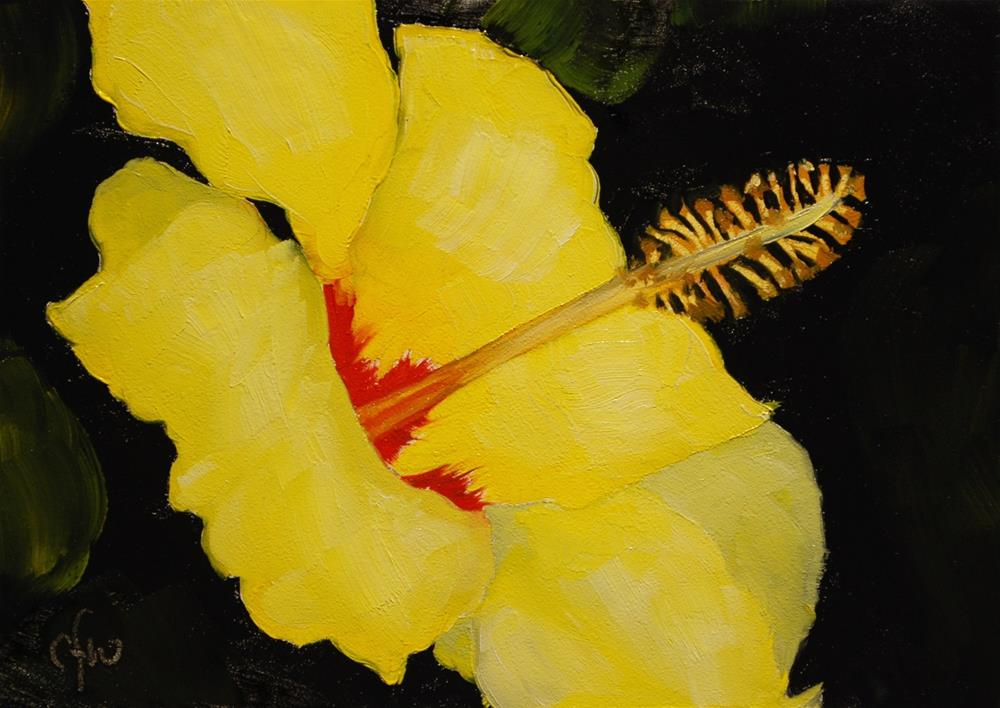 """Yellow Hibiscus"" original fine art by Gary Westlake"