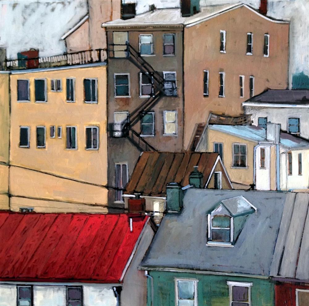 """""""Behind Bridge Street"""" original fine art by Teresa Haag"""