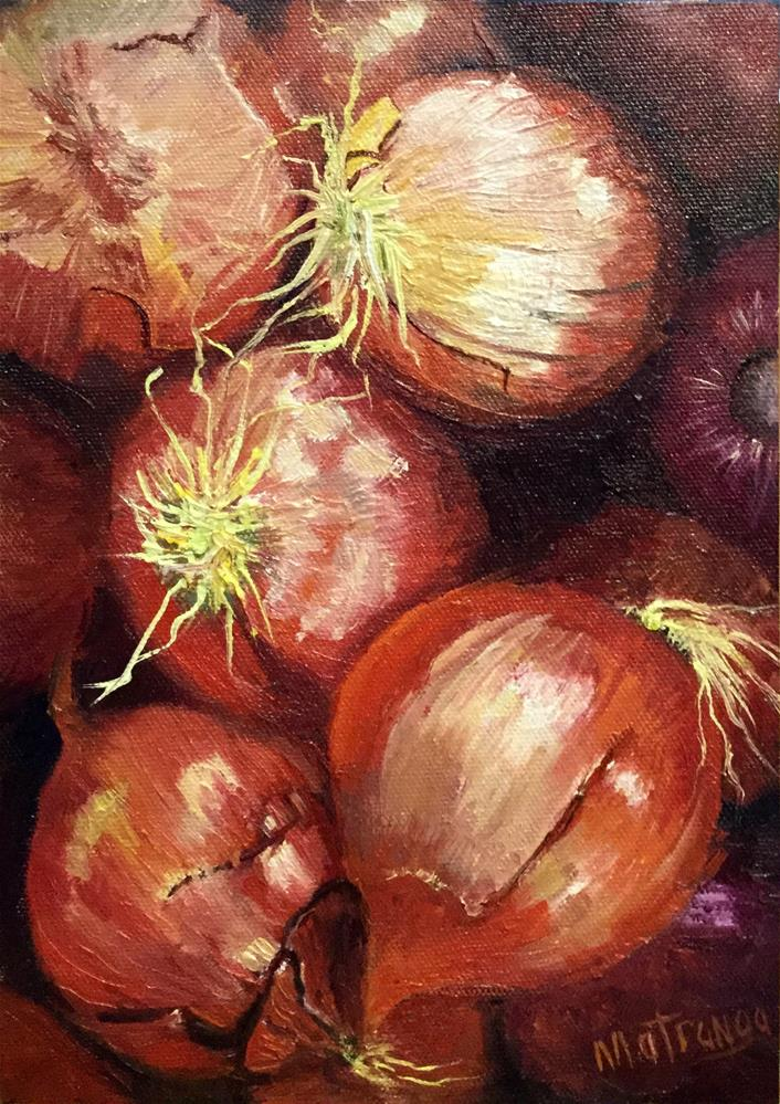 """Onions, Onions!"" original fine art by Patricia Matranga"