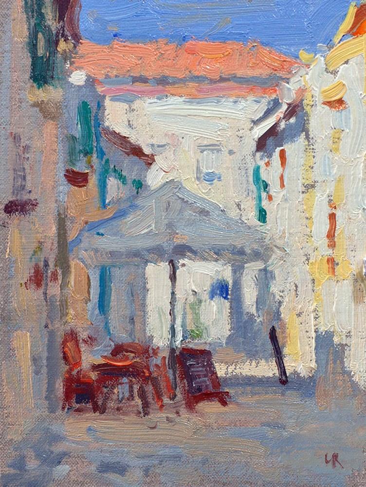 """Bystreet - Sesimbra"" original fine art by Lena  Rivo"