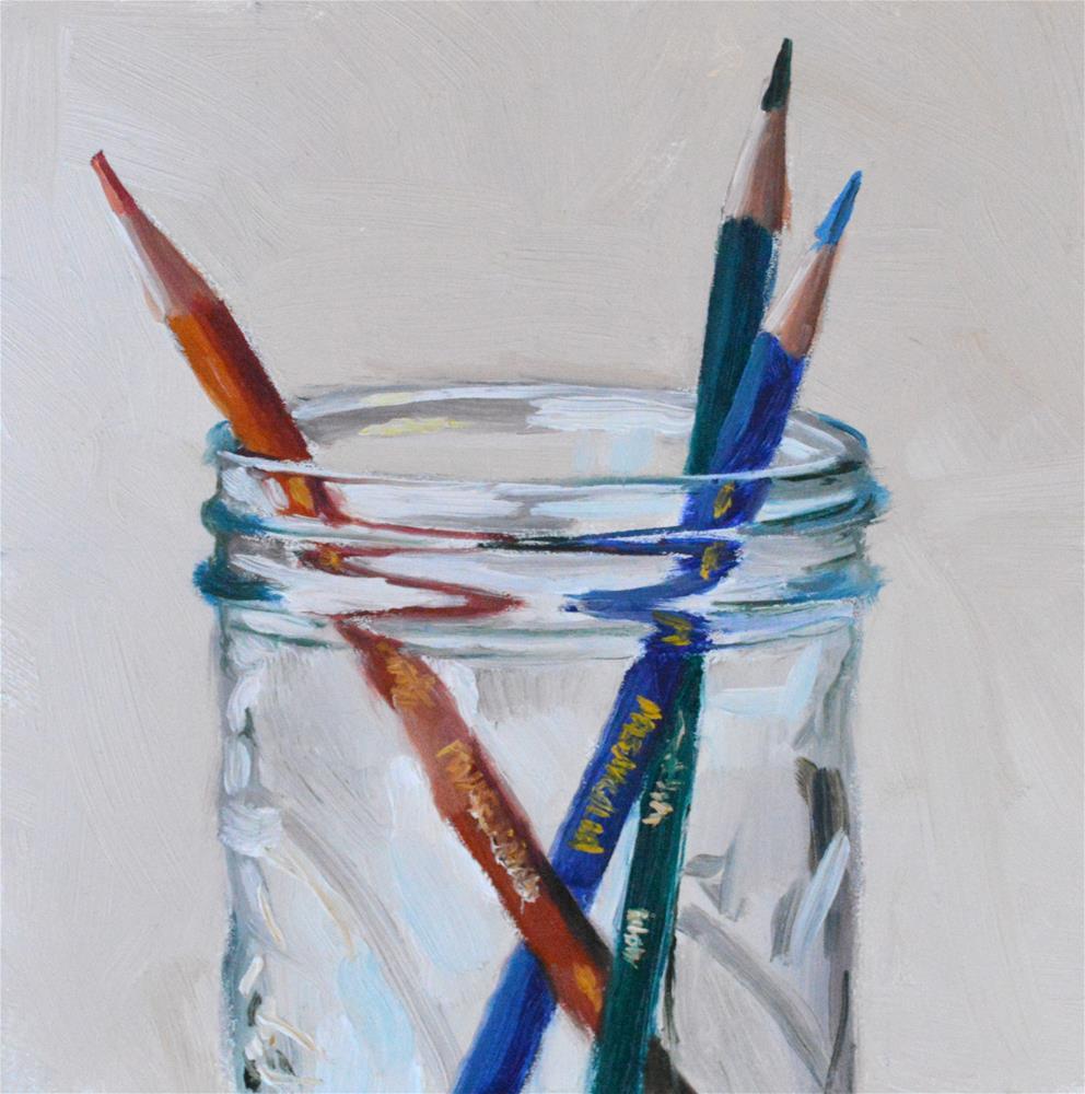 """""""Red, Blue, & Green"""" original fine art by Peter Bain"""