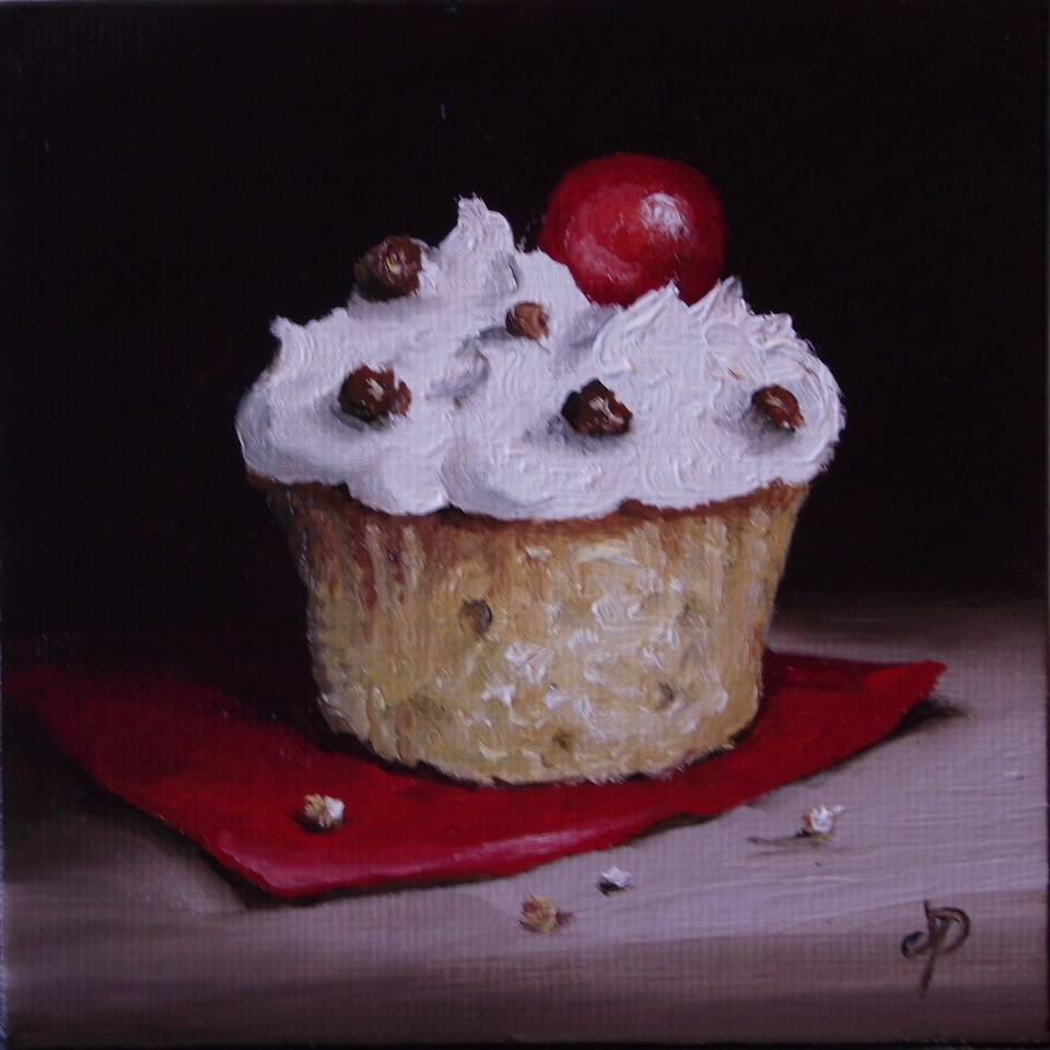 """Little Cupcake"" original fine art by Jane Palmer"