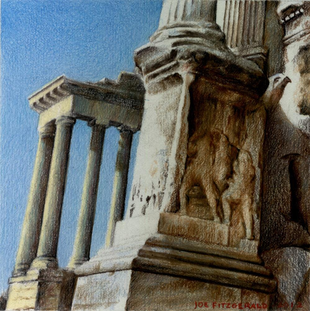 """Temple of the Divine Faustina"" original fine art by Joe Fitzgerald"