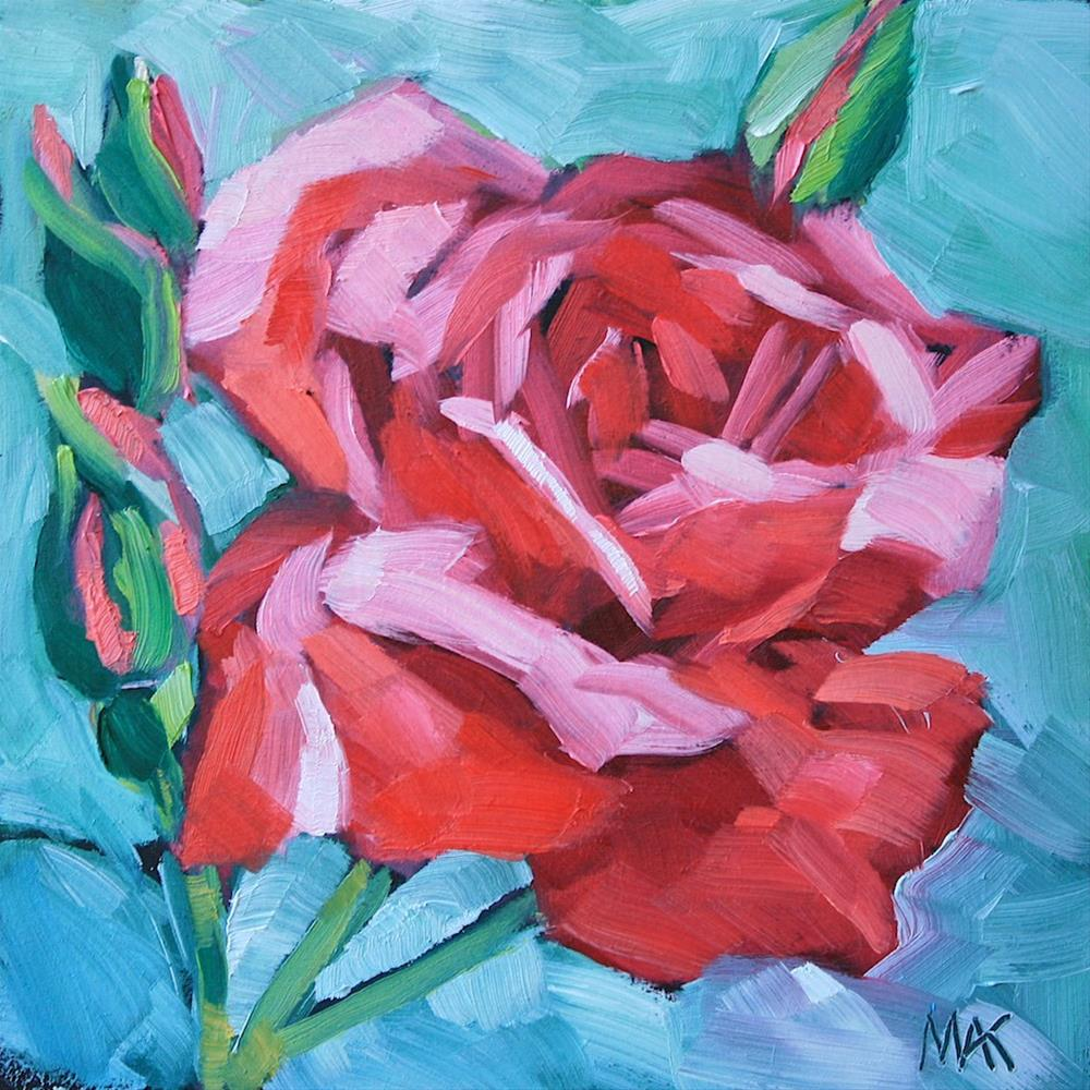 """Paint the Town Red"" original fine art by Mary Anne Cary"
