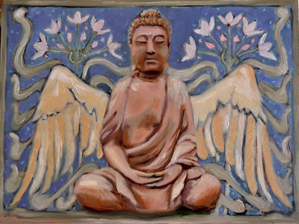 """Winged Buddha"" original fine art by Karen Weber"
