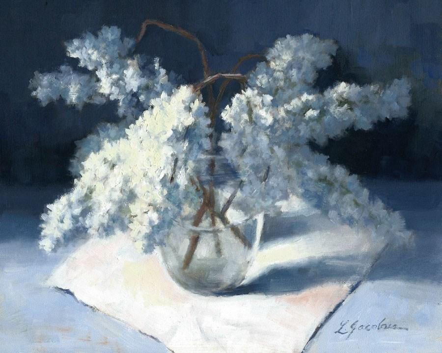 """Lilacs"" original fine art by Linda Jacobus"