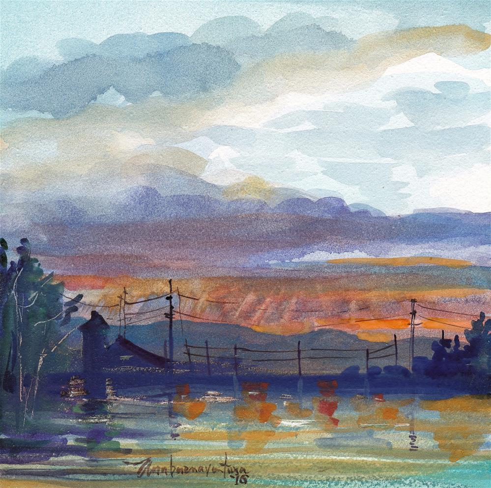 """""""Montana Sundown"""" original fine art by Ann Buenaventura"""