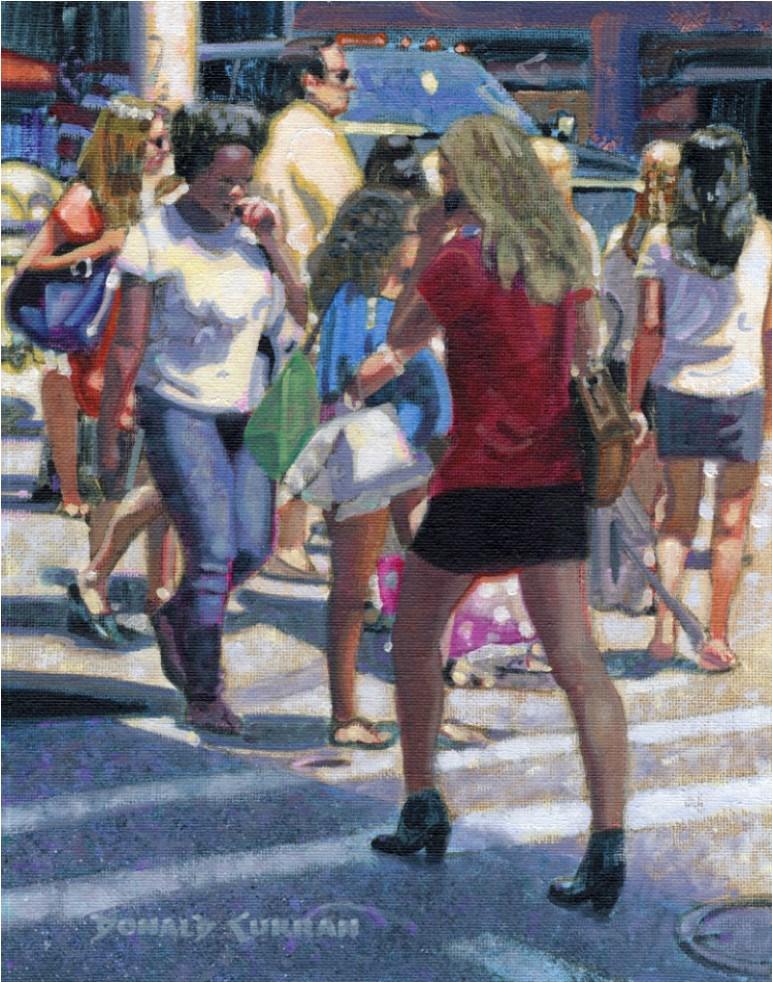 """Walkee-Talkee"" original fine art by Donald Curran"