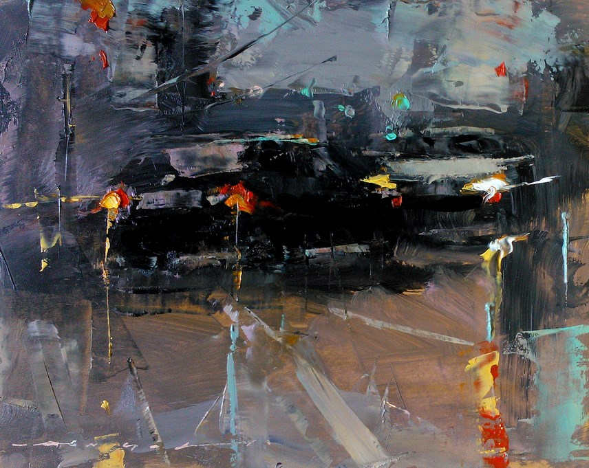 """City Traffic_004"" original fine art by Angel Angelov"