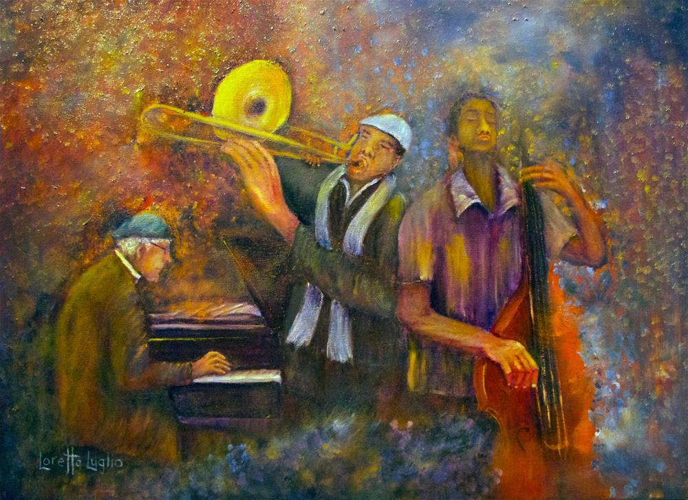 """All That Jazz"" original fine art by Loretta Luglio"