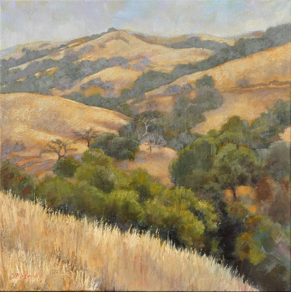 """Winter Hills, Monterey County"" original fine art by Connie McLennan"