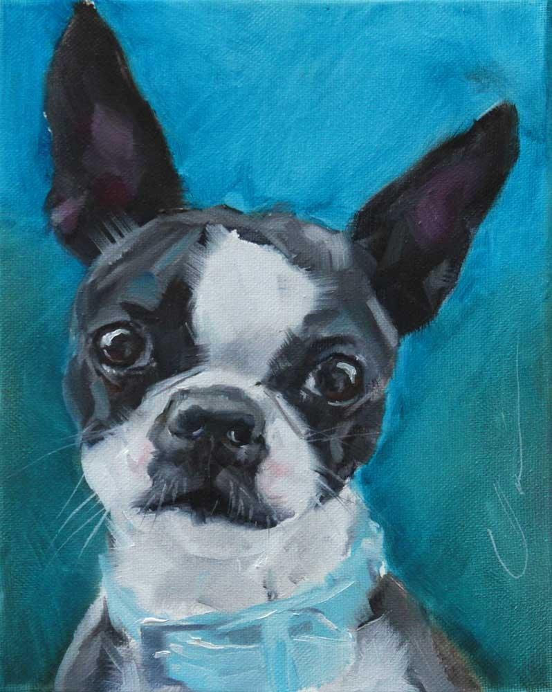 """The Daily Dog - Nine"" original fine art by Clair Hartmann"