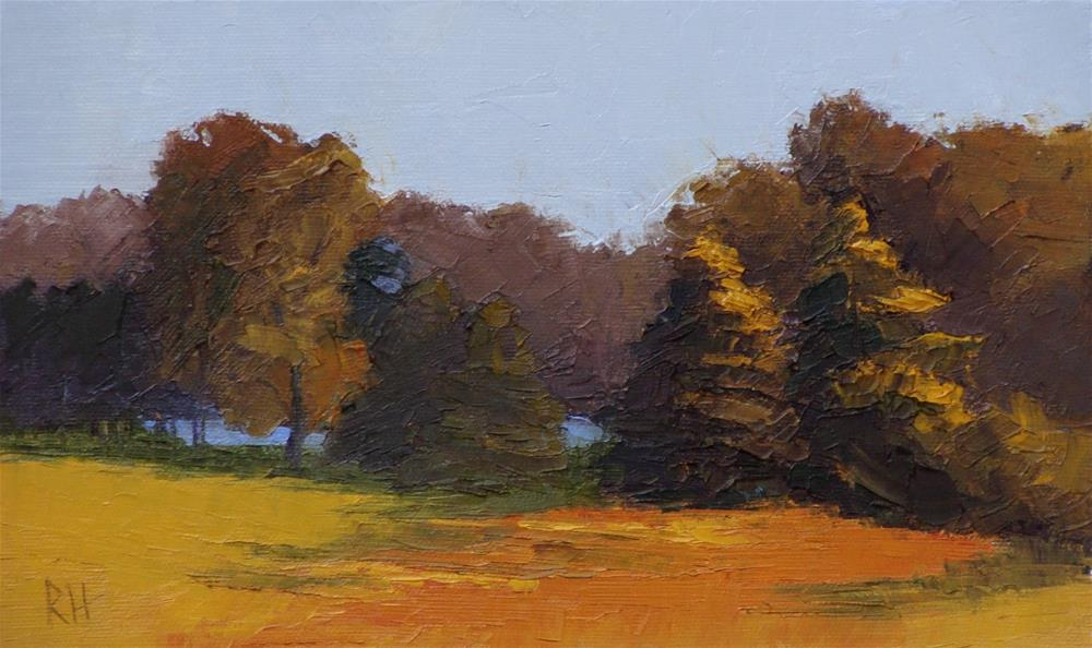 """""""Fields by the Lake"""" original fine art by Rebecca Helton"""