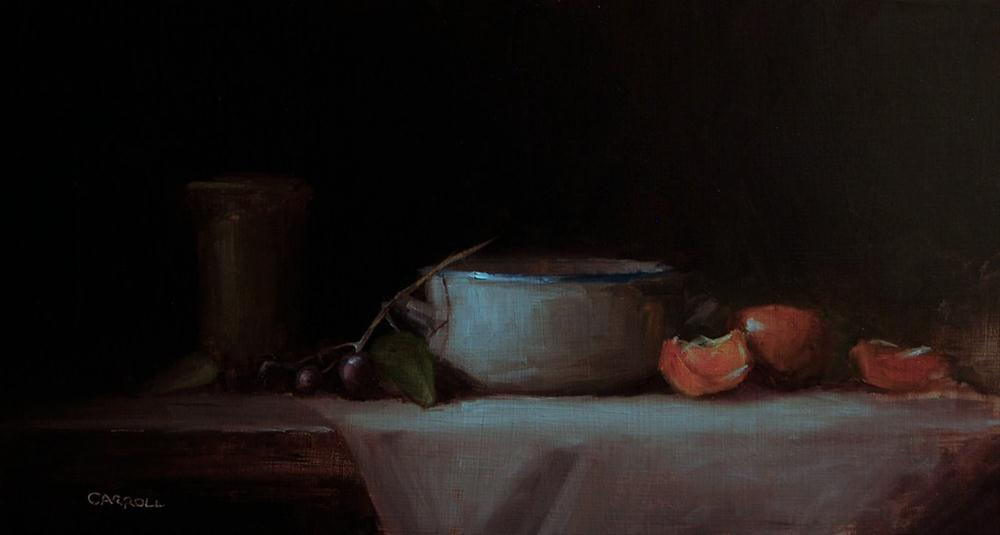 """Still Life with Dish"" original fine art by Neil Carroll"