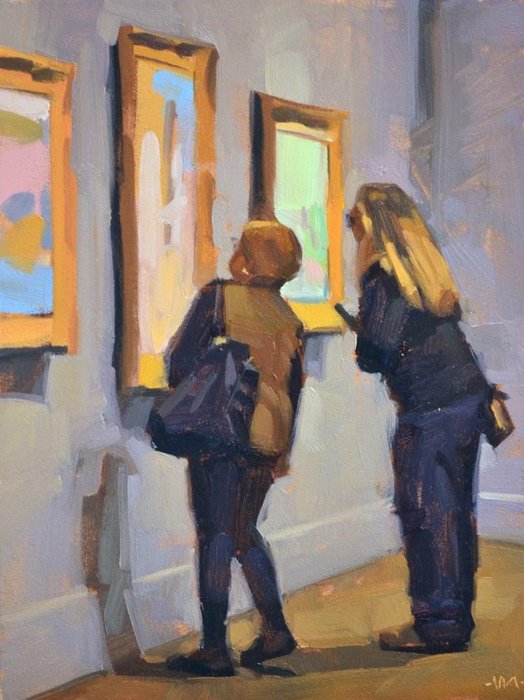 """Art Lovers"" original fine art by Carol Marine"