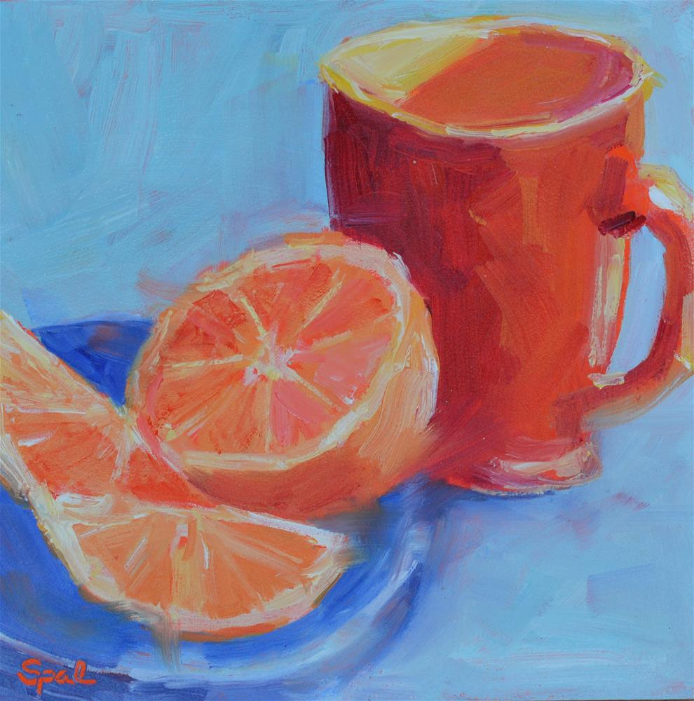 """Orange"" original fine art by Suzy 'Pal' Powell"