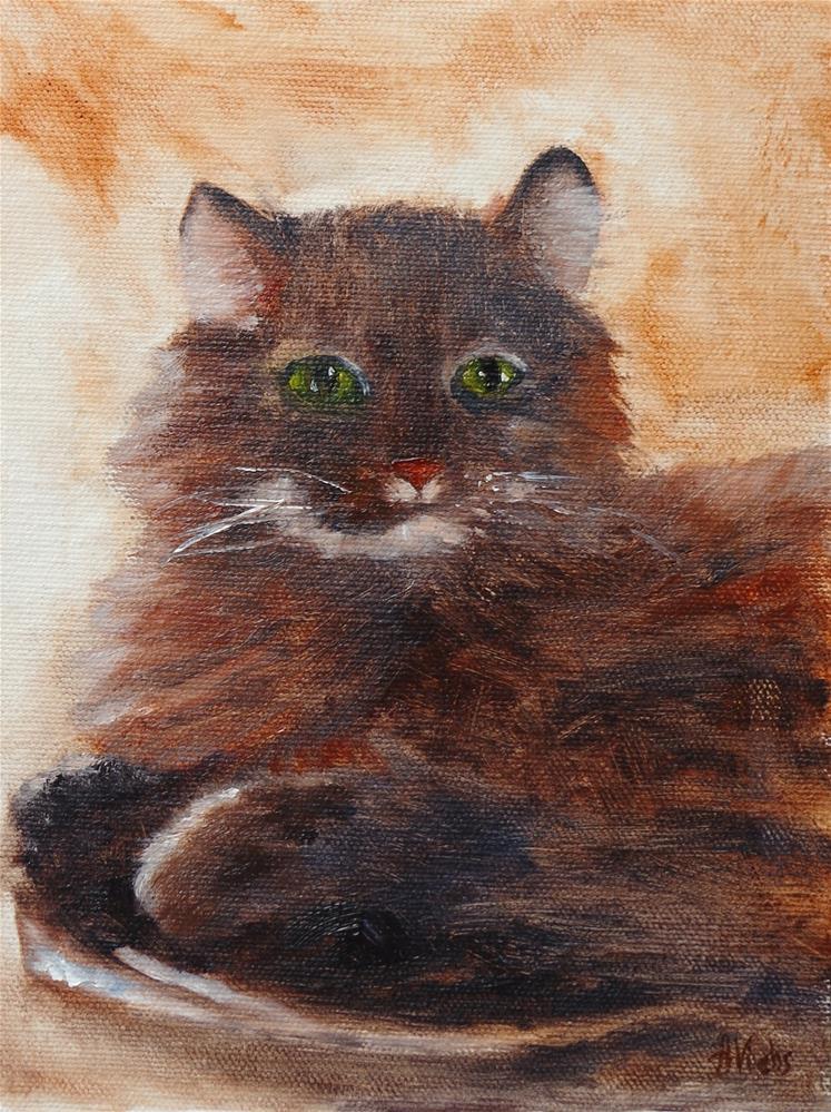 """Tubbs"" original fine art by Helen Viebrock Hamel"