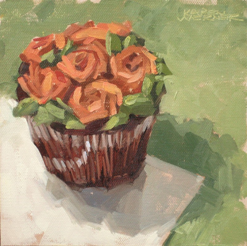 """Fall Cupcake"" original fine art by Karen Werner"