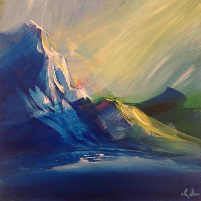 """Opened Again"" original fine art by David Kuhn"