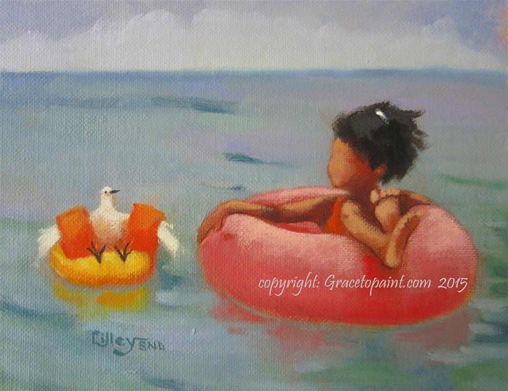 """Tubing"" original fine art by Maresa Lilley"