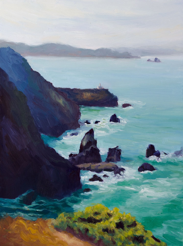 Point Bonita #3 original fine art by Jana Bouc