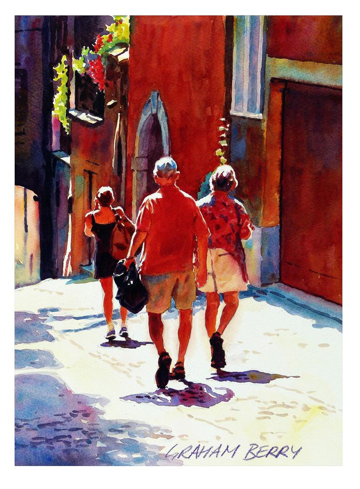 """Walking down the the hill."" original fine art by Graham Berry"