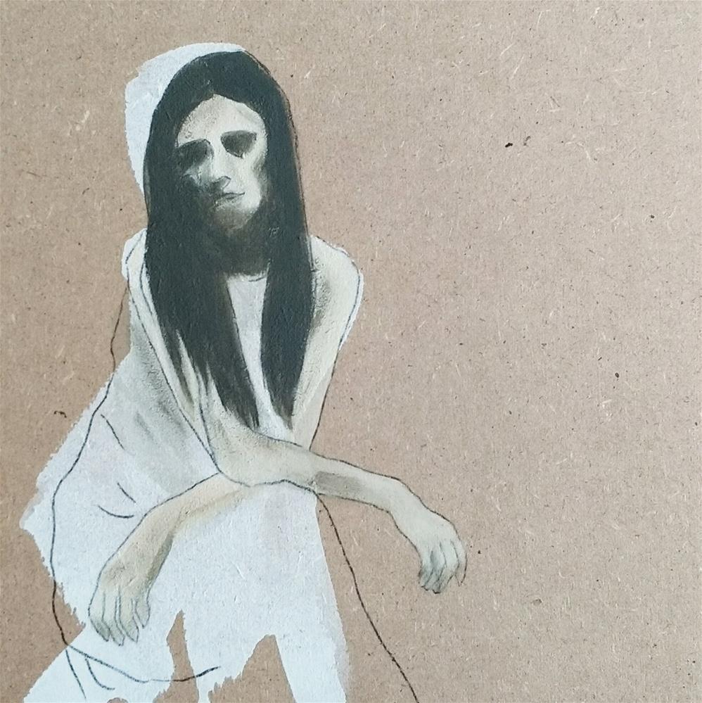 """""""Snow White 5"""" original fine art by Sandra Woerner"""