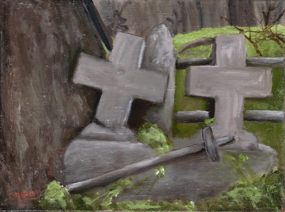 """Gary Cemetery"" original fine art by Daniel Varney"