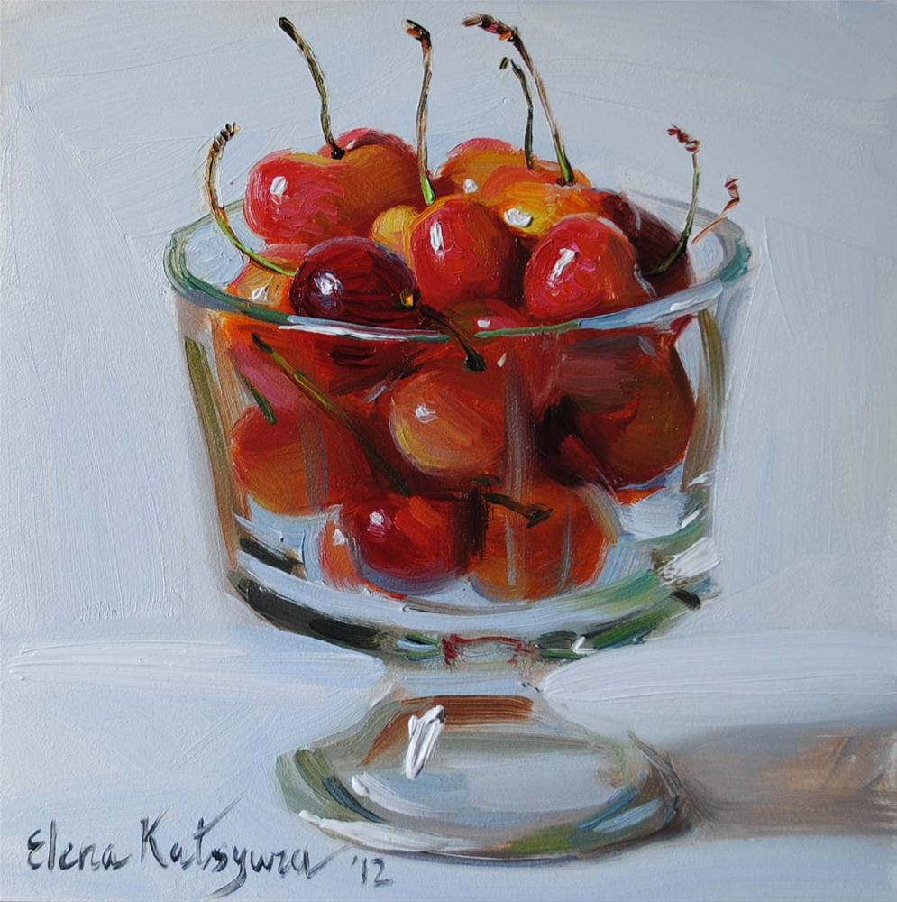 """California Cherries"" original fine art by Elena Katsyura"