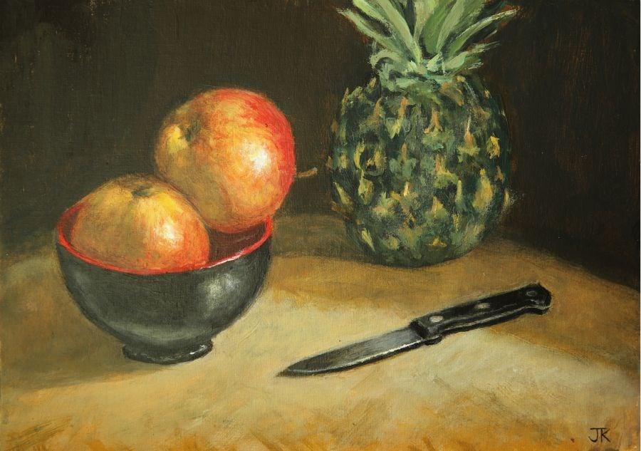 """Apples"" original fine art by Jethro Knight"