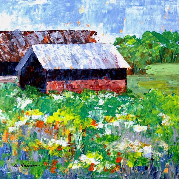 """Barn #15"" original fine art by Anna Vreman"