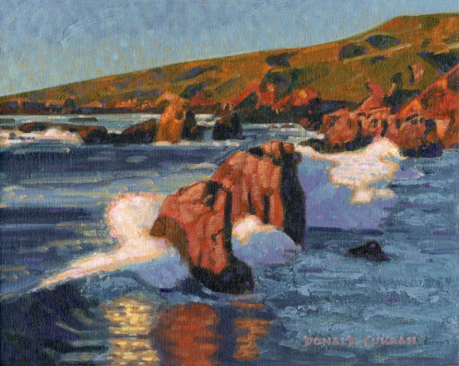 """Big Sur Coastline"" original fine art by Donald Curran"