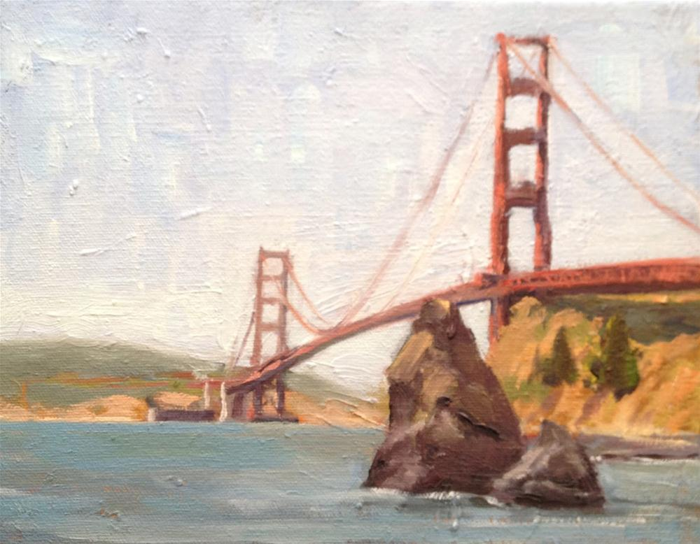 """Golden Gate"" original fine art by Deborah Newman"