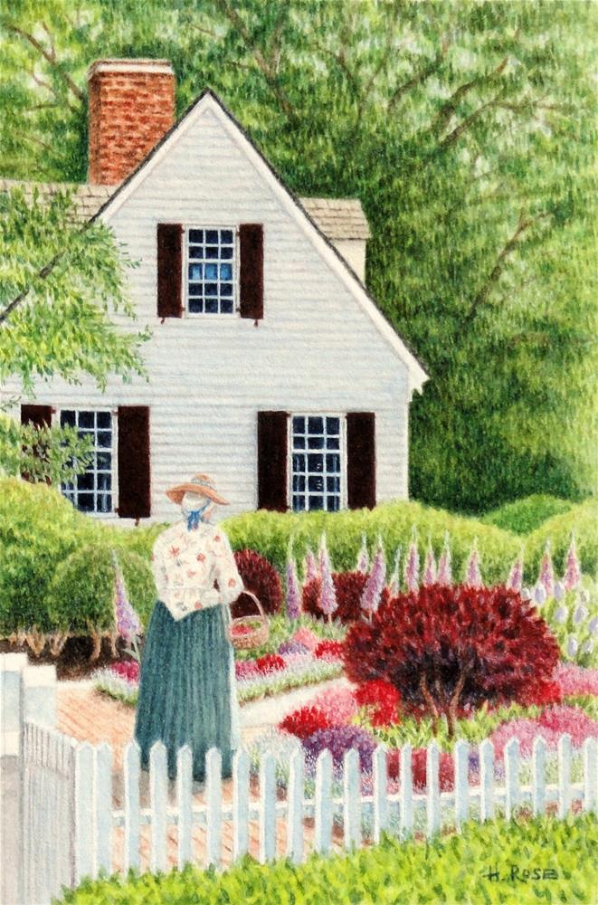 """Williamsburg Pleasure Garden"" original fine art by Heidi Rose"