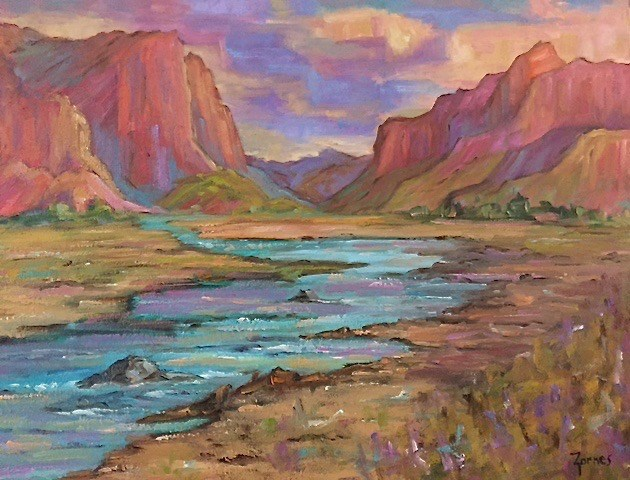 """Meadow River"" original fine art by Liz Zornes"