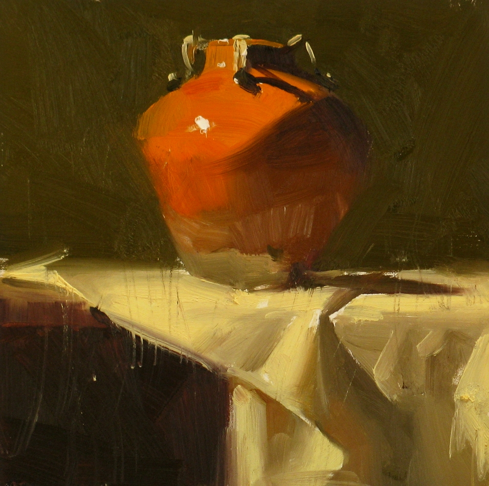 """Red Balance"" original fine art by Qiang Huang"