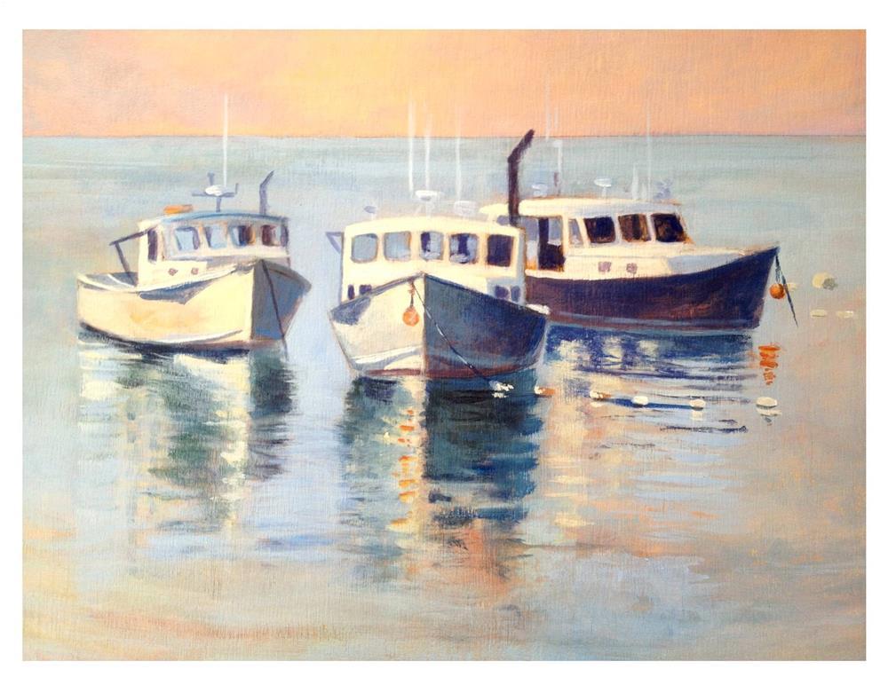 """Monhegan Boats"" original fine art by Suzanne Woodward"