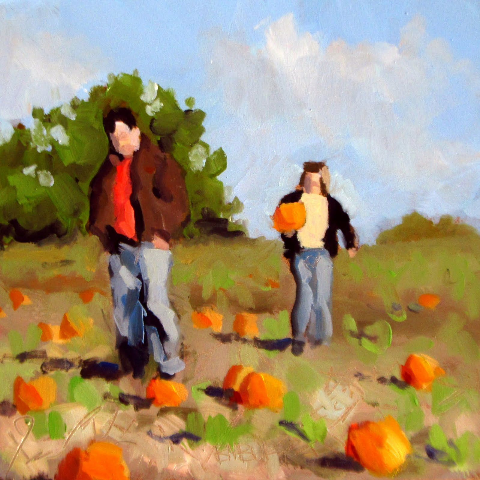 """DAILY DIAPER #209 The Pumpkin Patch!"" original fine art by Brian Burt"