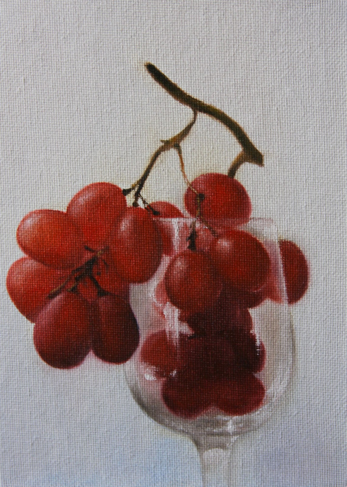 """Grapes & Wine Glass"" original fine art by Jonathan Aller"