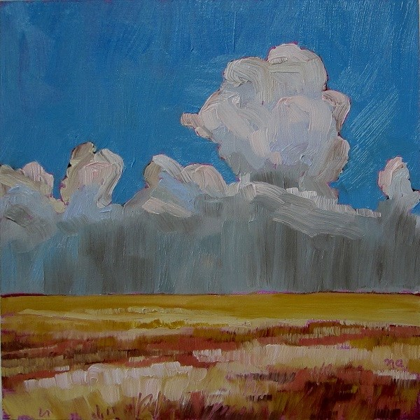 """Over The Prairies"" original fine art by Nicki Ault"